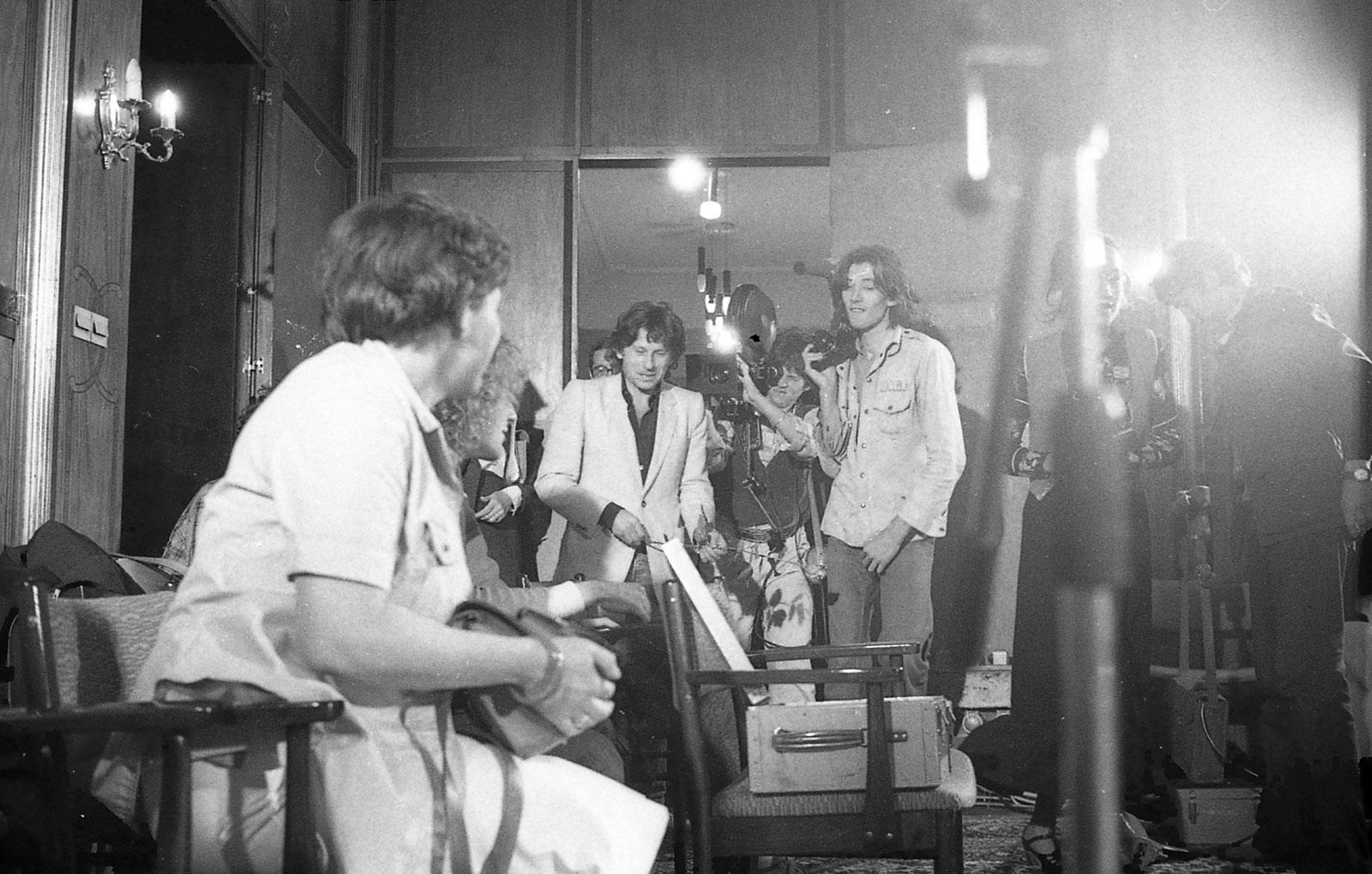 Roman Polanski visiting the School. Archive PWSFTviT