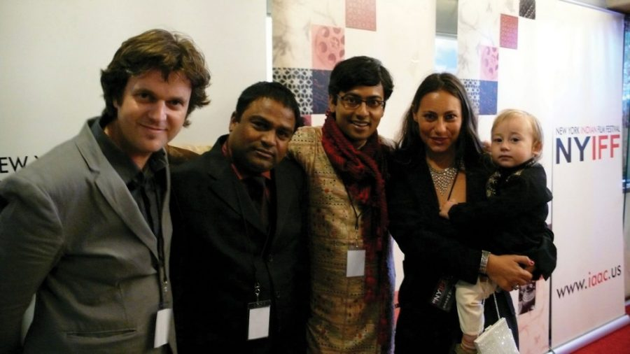 The Bengali Hollywood Delegation, From Left To Right: Director Phil Cox, Rajesh Ji, Assistant Director Sounak Chakravarty, Producer Giovanna Stopponi And Romeo Cox.